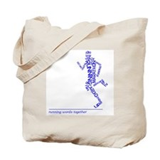 Running Man in Words (rwt) Tote Bag