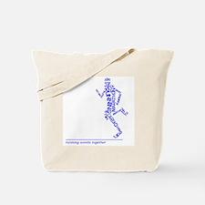 Running Man in Words (rwt) Tote Bag