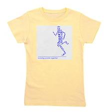 Running Man in Words (rwt) Girl's Tee