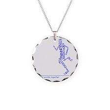Running Man in Words (rwt) Necklace