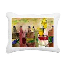 Tuscany Wine art Rectangular Canvas Pillow