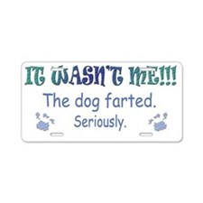 dog farted Aluminum License Plate