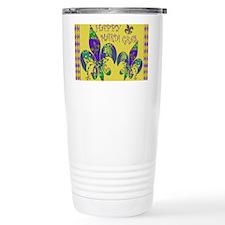 Happy Mardi Gras fleur de lis Travel Mug