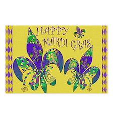 Happy Mardi Gras fleur de Postcards (Package of 8)
