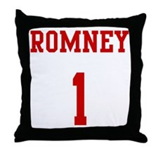 Romney-Jersey-Back Throw Pillow