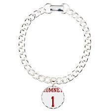 Romney-Jersey-Back Charm Bracelet, One Charm