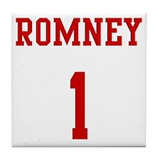 Romney-Jersey-Back Tile Coaster