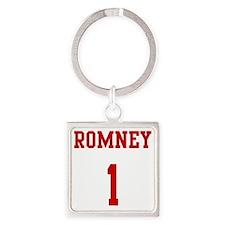 Romney-Jersey-Back Square Keychain