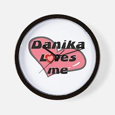danika loves me  Wall Clock
