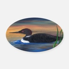 Loon Lake Oval Car Magnet