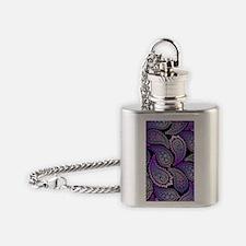 Purple Paisley Flask Necklace
