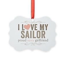 I Love my Sailor Proud Navy Girlf Ornament
