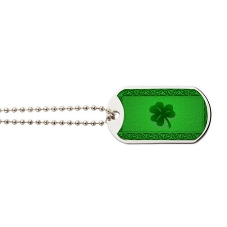 Irish Celtic Shamrock Dog Tags
