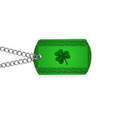 Irish Celtic Shamrock Dog Tags