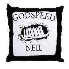 Godspeed Neil Throw Pillow