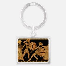 Achilles Slaying Hector Landscape Keychain