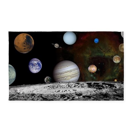 New Solar Small Tray 3'x5' Area Rug