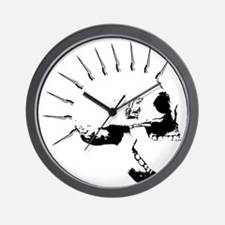 punks not dead skull Wall Clock