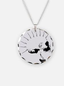 punks not dead skull Necklace