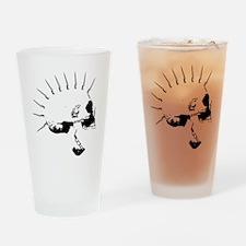punks not dead skull Drinking Glass