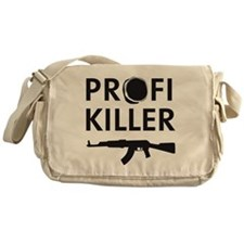 profi killer target machine gun Messenger Bag