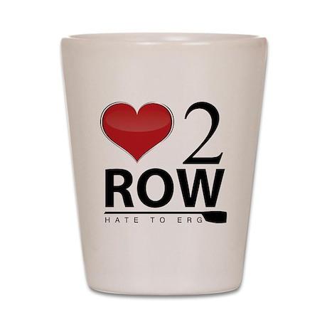 Love 2 Row Shot Glass