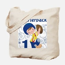 This Little Quarterback is 1 Tote Bag