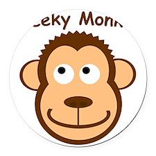 CheekyMonkey Round Car Magnet