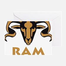 zodiac ram Greeting Card