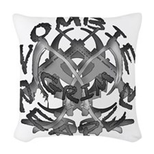 Zombie grim reaper Woven Throw Pillow