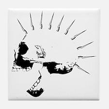punks not dead skull Tile Coaster