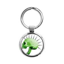 spike skull Round Keychain