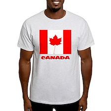 Red Leaf Flag T-Shirt