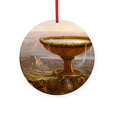 Thomas Cole The Titans Goblet Round Ornament