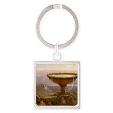 Thomas Cole The Titans Goblet Square Keychain