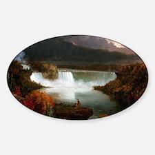 Thomas Cole Niagara Falls Sticker (Oval)