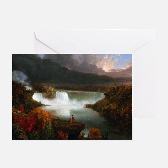 Thomas Cole Niagara Falls Greeting Card