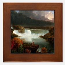 Thomas Cole Niagara Falls Framed Tile