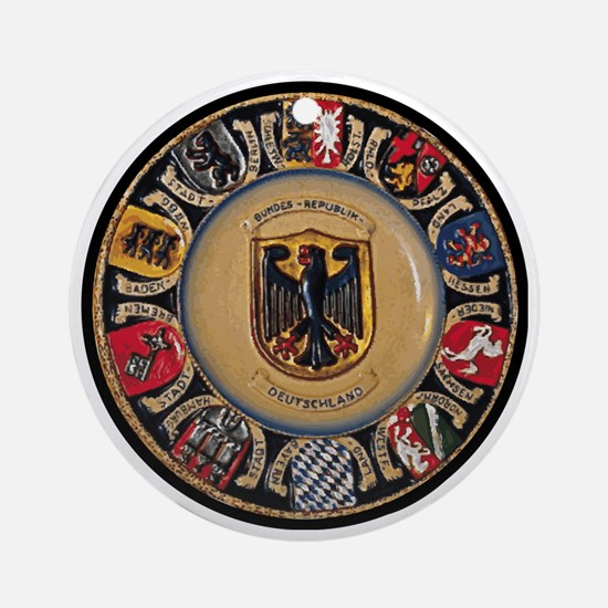 Germany Round Ornament