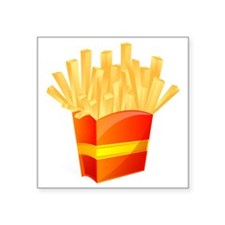 """French Fries Square Sticker 3"""" x 3"""""""
