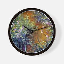 Claude Monet Irises Wall Clock