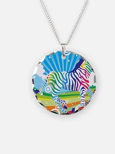 Psychedelic Zebra Necklace