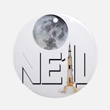 A TRIBUTE DESIGN TO NEIL ARMSTRONG Round Ornament