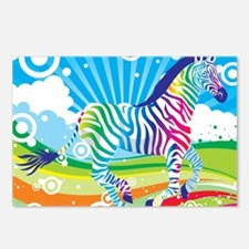 Psychedelic Zebra Postcards (Package of 8)