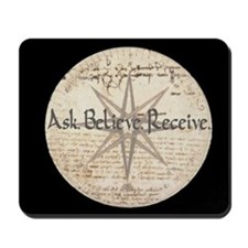 Ask Believe Receive Mousepad