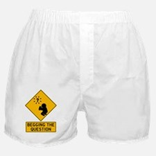 Begging the Question Print Boxer Shorts