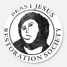 Beast Jesus Restoration Society Round Car Magnet