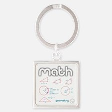 Geometry Square Keychain