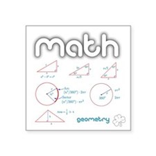 "Geometry Square Sticker 3"" x 3"""