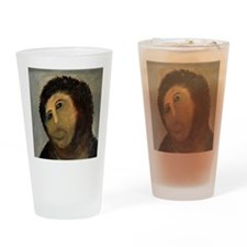 Jesus Fresco Head Drinking Glass